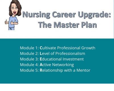 Nursing Career Upgrade:  The Master Plan